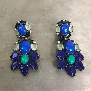 Stella & Dot Peacock Statement Earrings
